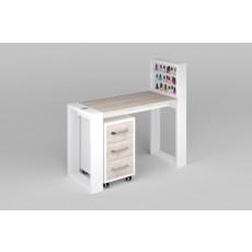 """Маникюрный стол с подставкой для лаков и тумбой """"Matrix"""""""